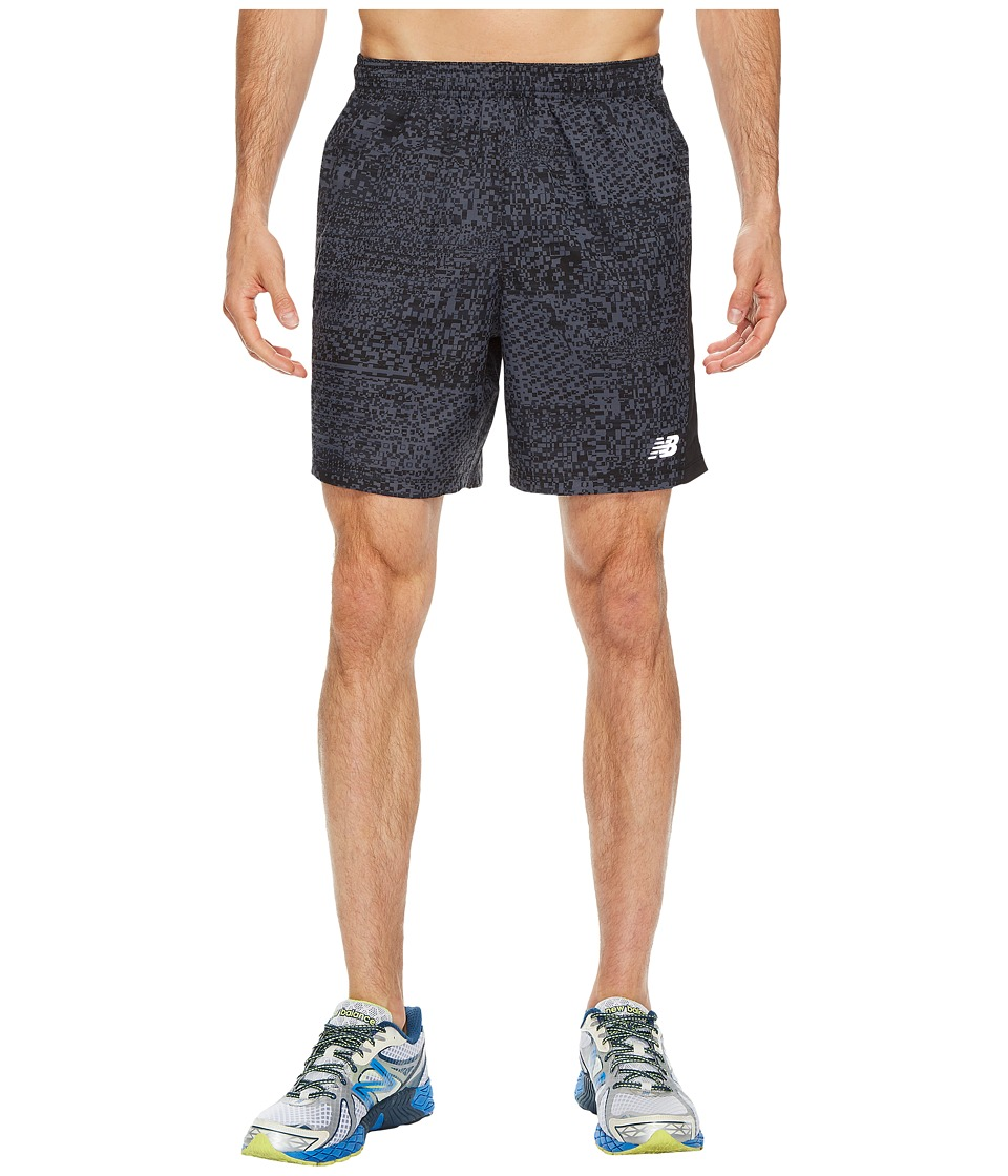New Balance Accelerate 7 Short w/ Brief (Black Multi Print/Thunder/Outer Space) Men