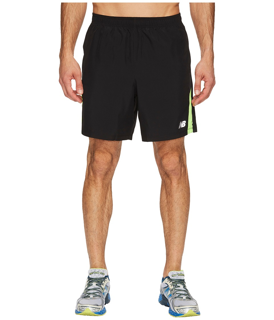 New Balance Accelerate 7 Short w/ Brief (Black/Energy) Men