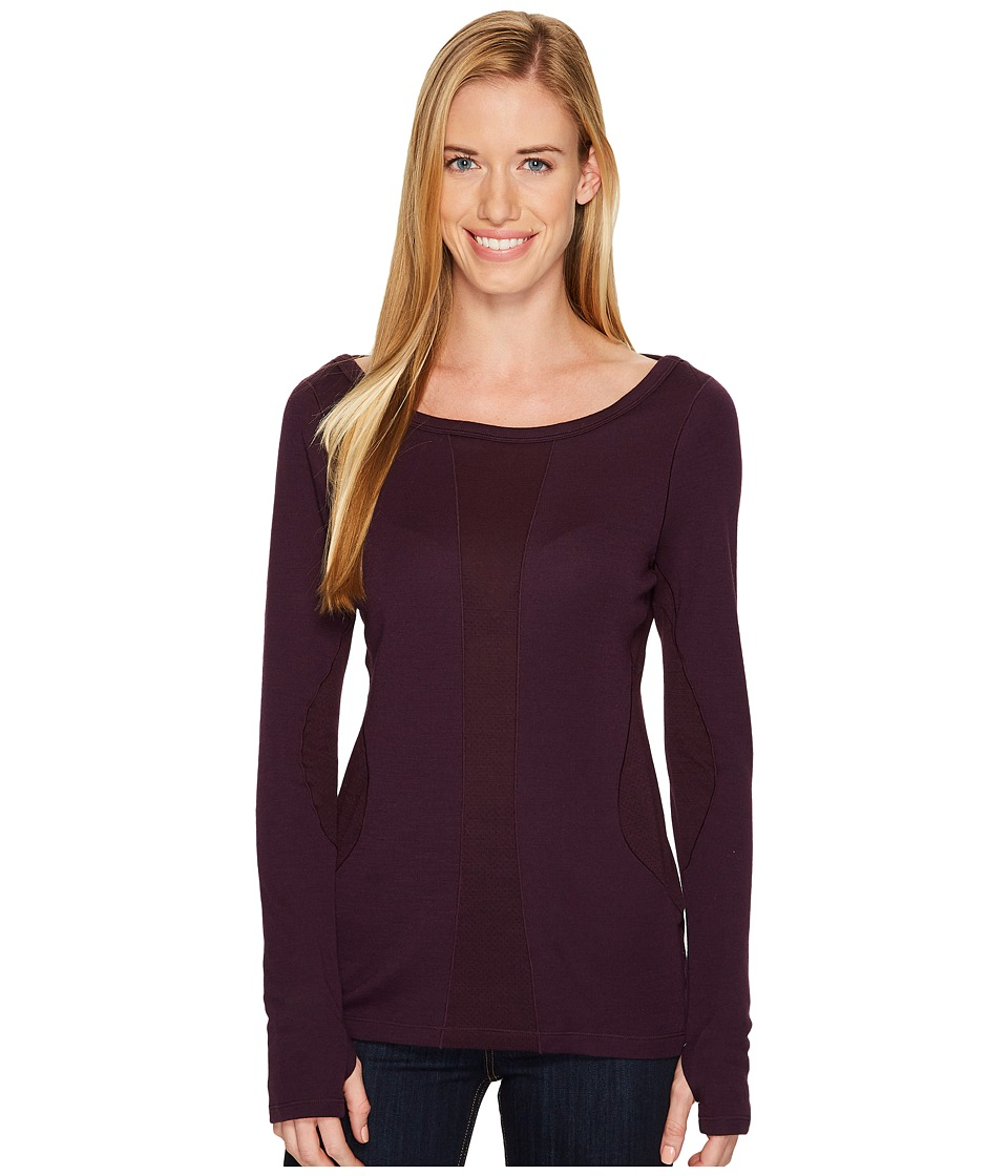 Smartwool PhD(r) Light Long Sleeve Top (Bordeaux) Women