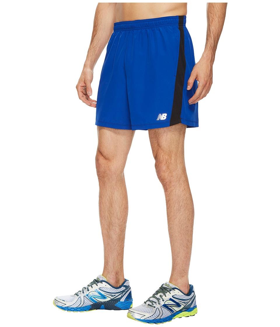 New Balance Accelerate 5 Shorts w/ Brief (Team Royal/Black) Men