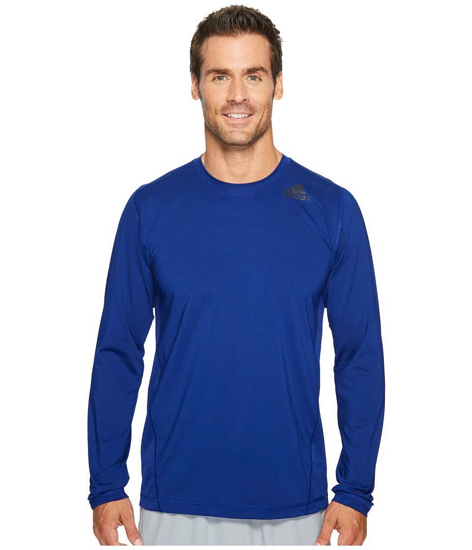 adidas - Utility Tech Long Sleeve Top (Mystery Ink) Men's Long Sleeve Pullover
