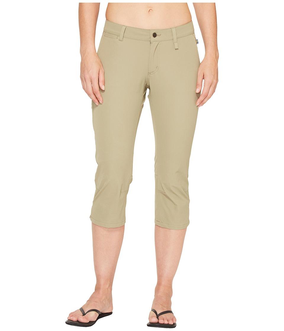 Fjallraven - Abisko Capris Trousers (Savanna) Womens Capri