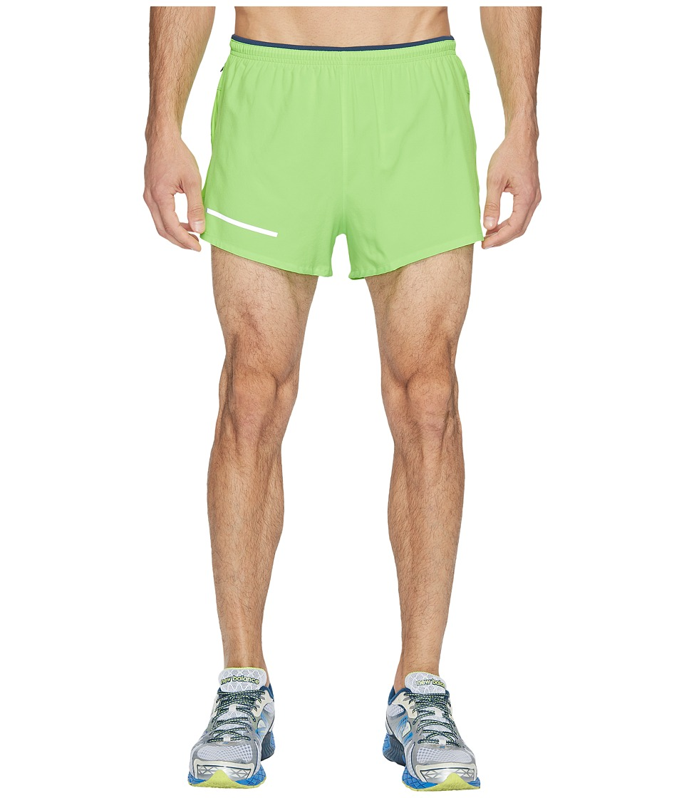 New Balance Impact 3 Split Shorts (Energy Lime) Men