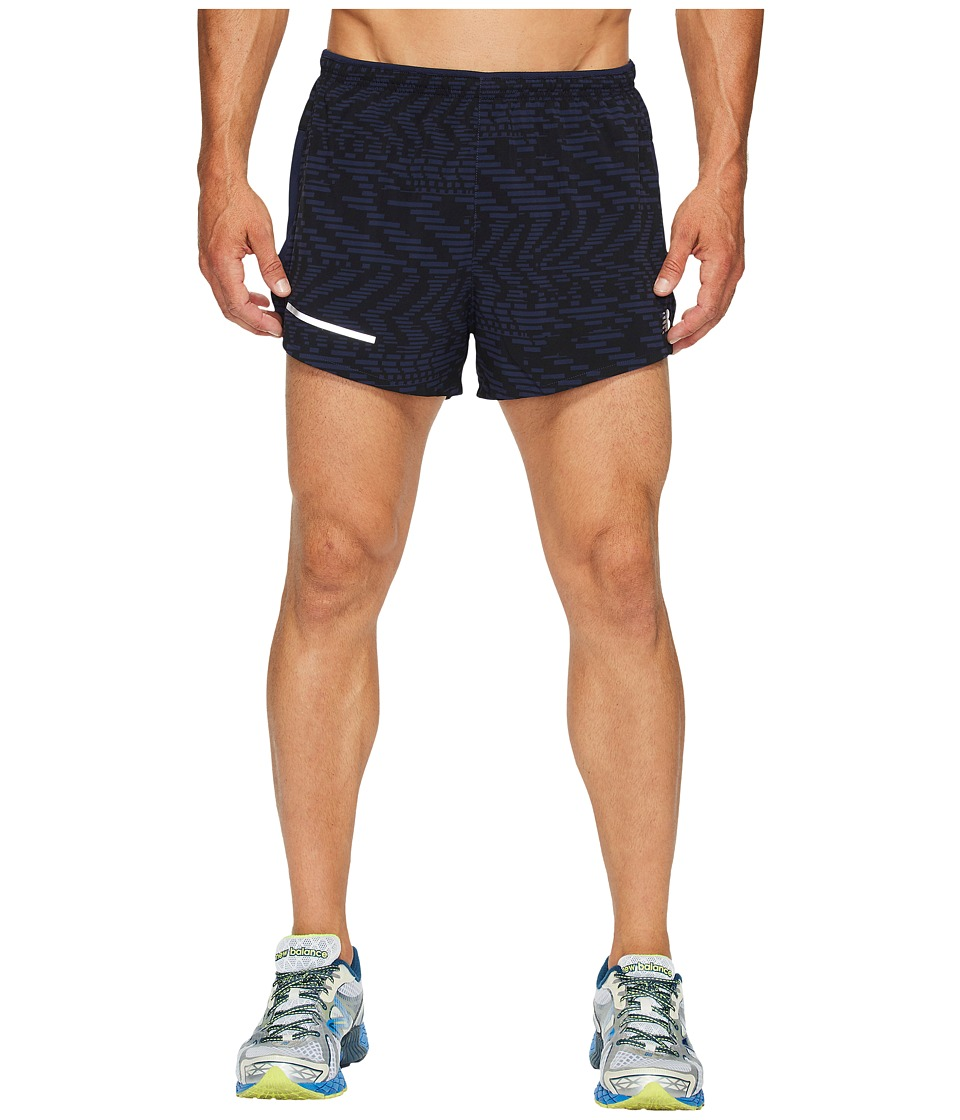 New Balance Impact 3 Split Shorts Print (Pigment/Caviar) Men