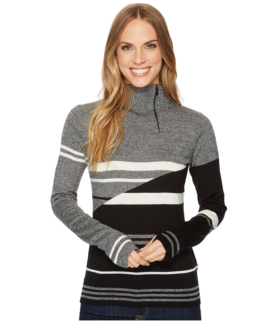 Smartwool Isto Sport Stripe Sweater (Black) Women