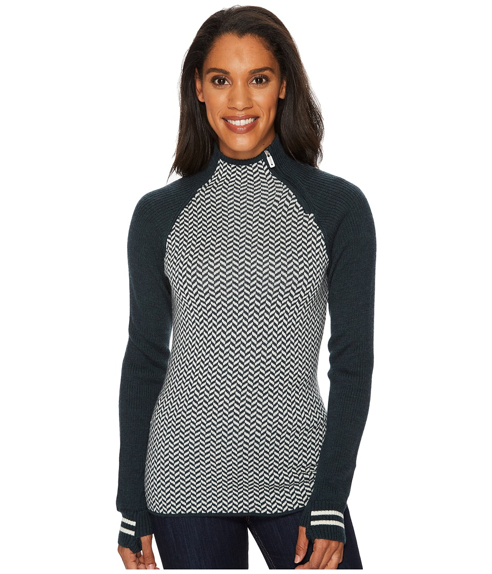 Smartwool Dacono Funnel Neck Sweater (Lochness Heather) Women