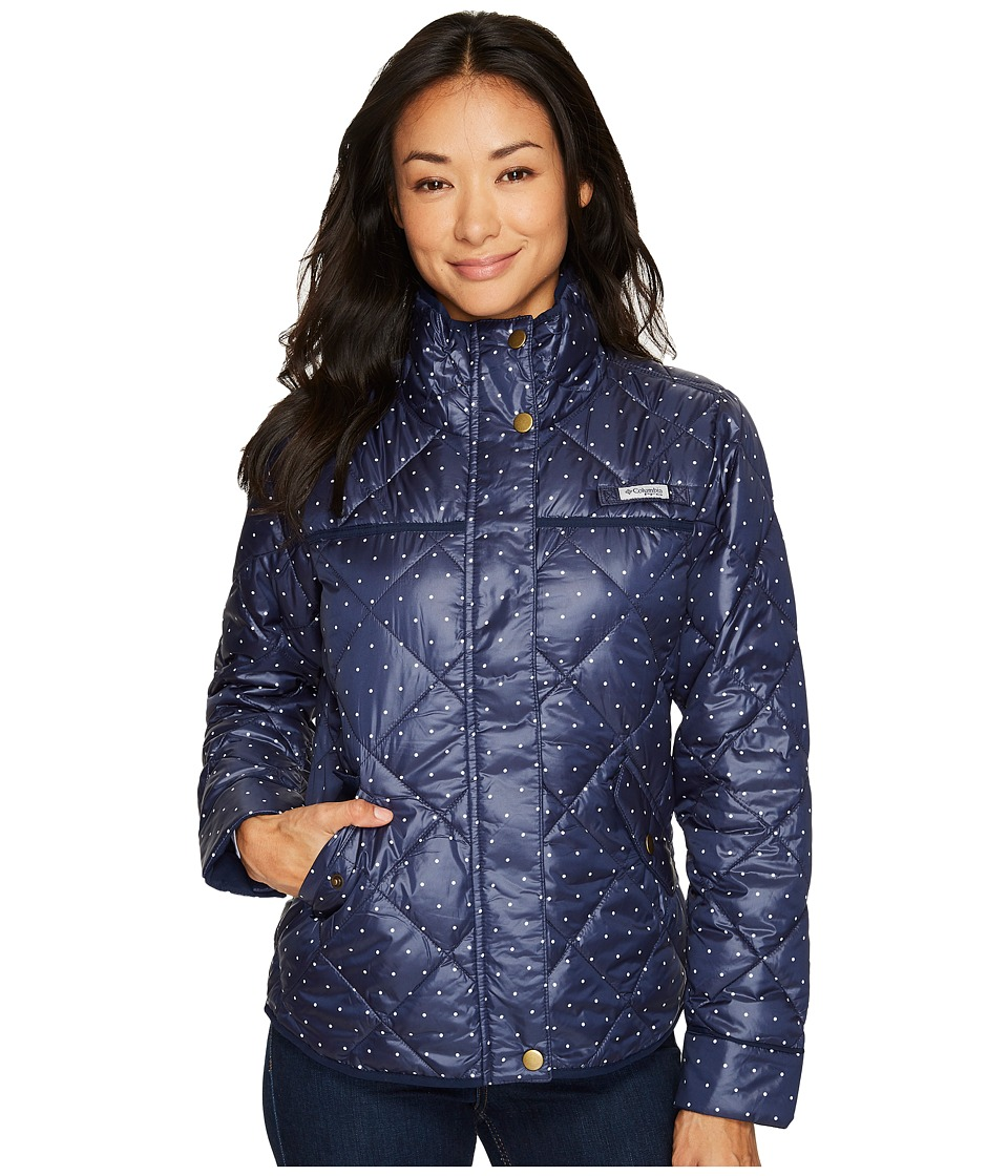 Columbia Harborside Diamond Quilted Jacket (Collegiate Navy Polka Dot) Women