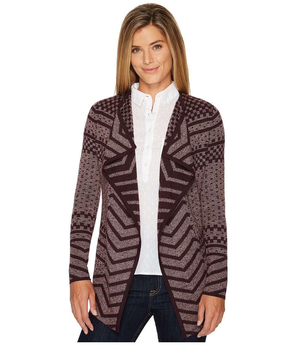 Smartwool Avion Ridge Pattern Wrap (Bordeaux) Women