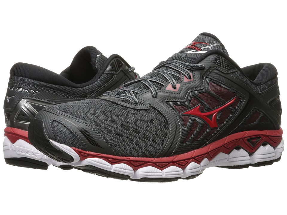 Mizuno Wave Sky (Iron Gate/Red/Black) Men's Running Shoes
