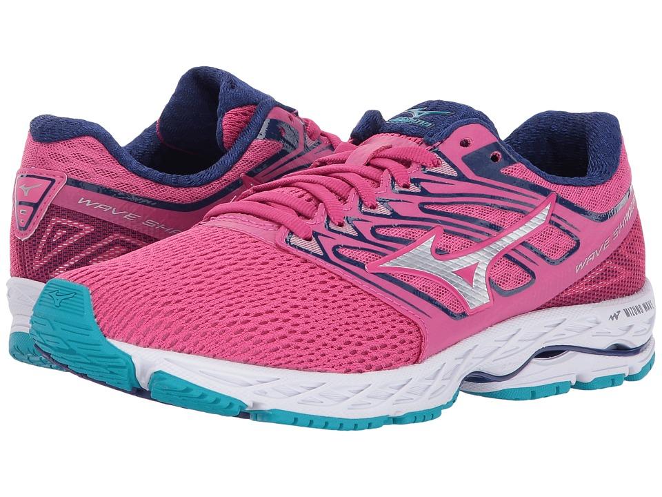 Mizuno Wave Shadow (Fuchsia Purple/Silver/Tile Blue) Women's Running Shoes
