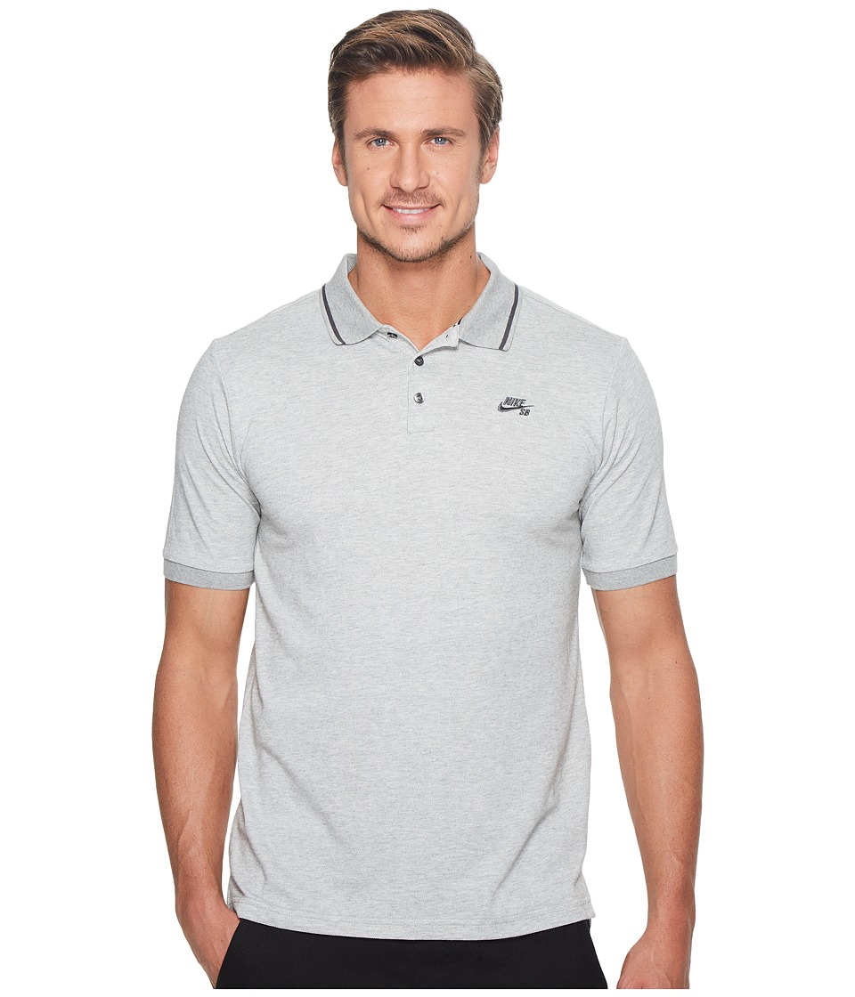 Nike SB - SB Dry Polo Pique Tip Short Sleeve (Dark Grey H...