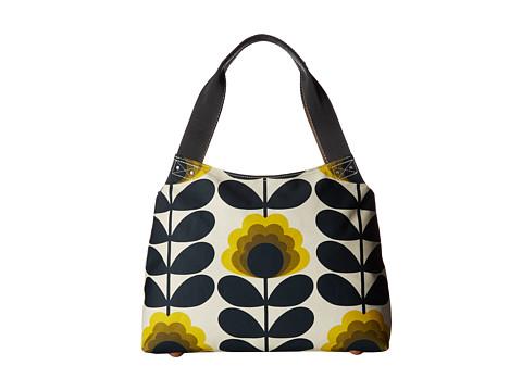 Orla Kiely Summer Flower Stem Classic Zip Shoulder Bag - Sunshine