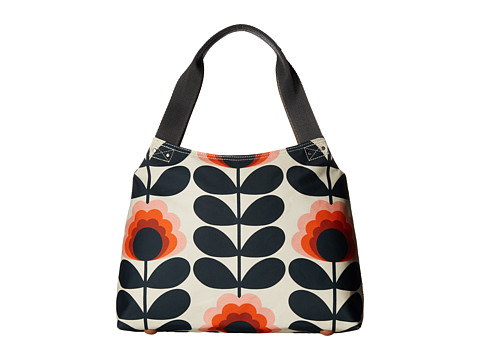 Orla Kiely Summer Flower Stem Classic Zip Shoulder Bag - Sunset
