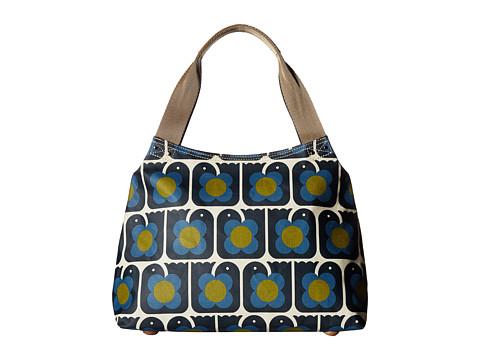 Orla Kiely Love Birds Print Classic Zip Shoulder Bag - Navy