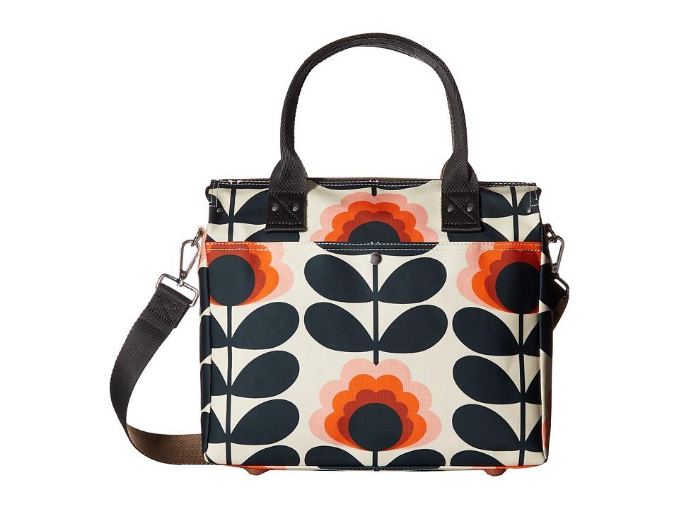 Orla Kiely Summer Flower Stem Zip Messenger (Sunset) Messenger Bags