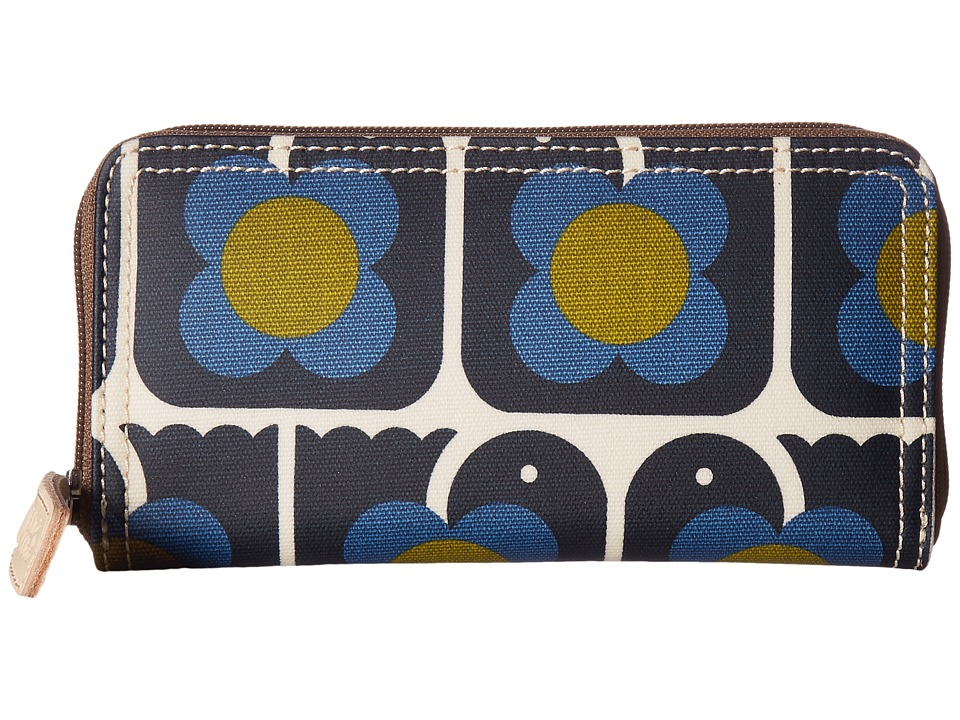 Orla Kiely Orla Kiely - Love Birds Print Big Zip Wallet