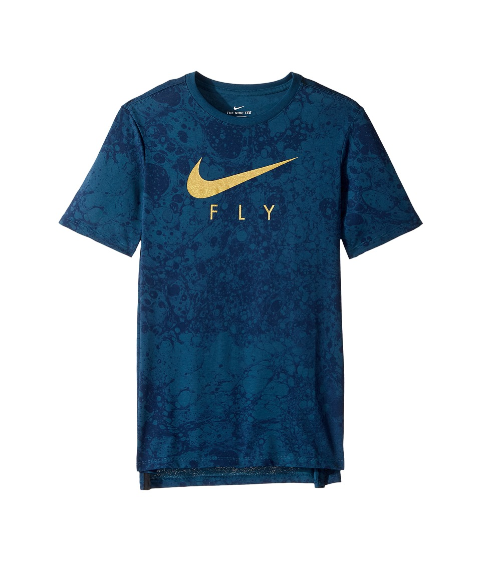 Nike Kids Dry LunarFly Droptail Tee (Little Kids/Big Kids) at Zappos.com