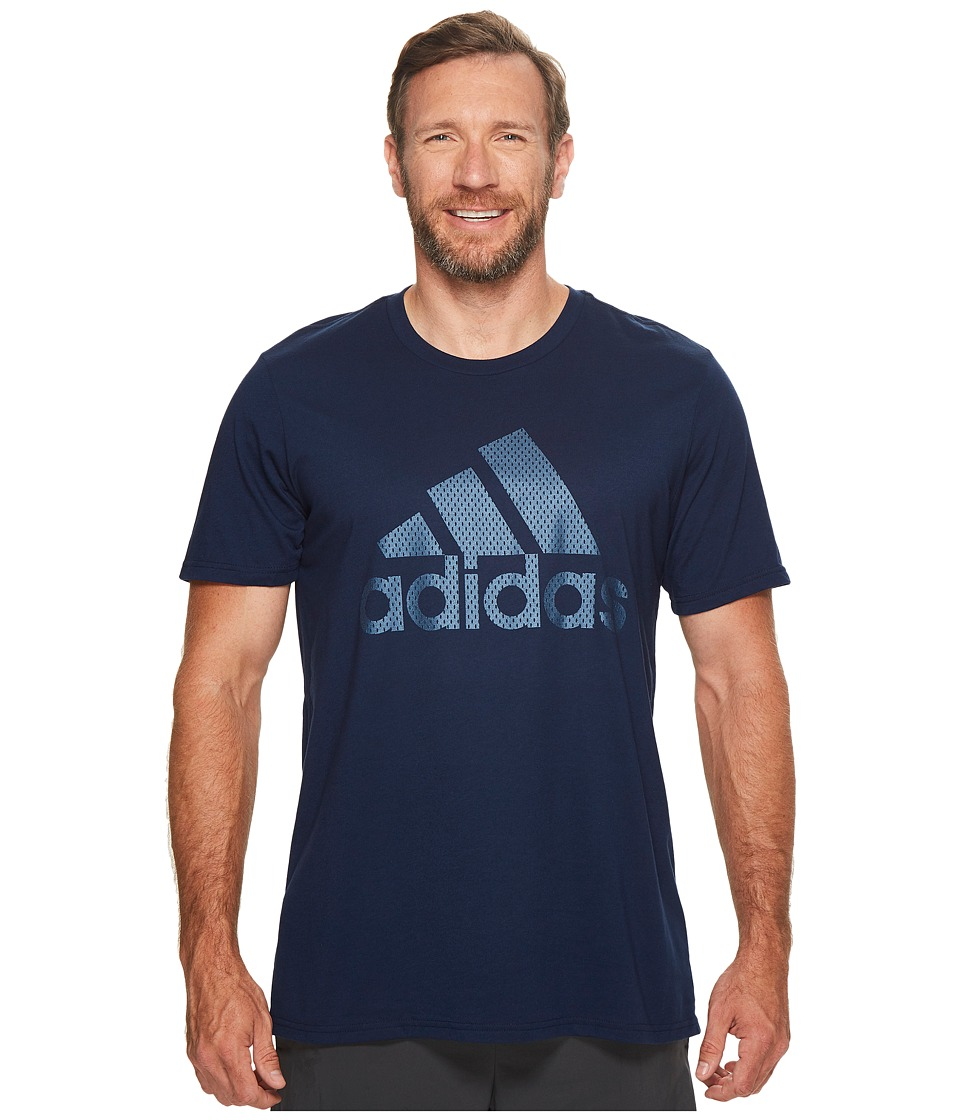 adidas - Big Tall Badge of Sport Metal Mesh Tee