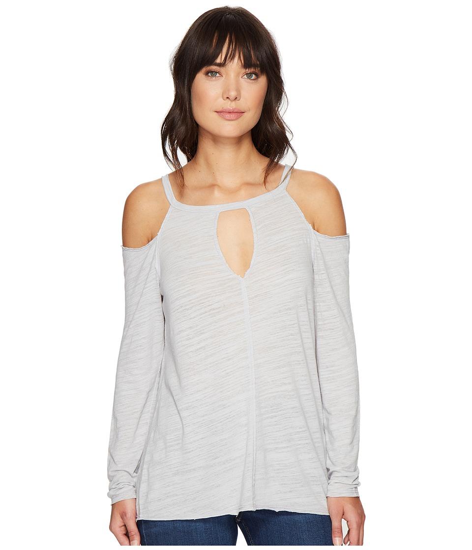 HEATHER - Cotton Gauze Long Sleeve Cold Shoulder Top