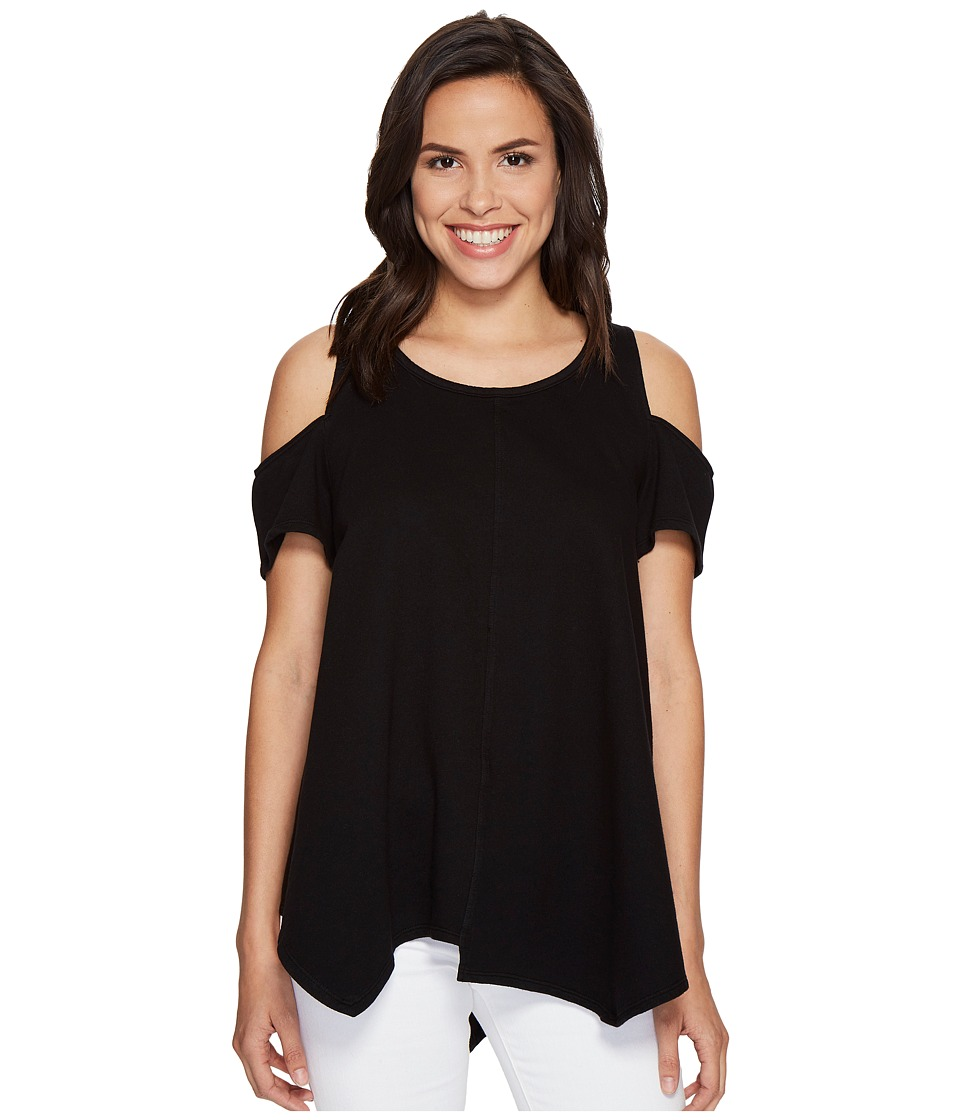 HEATHER - Cotton French Terry Cold Shoulder Swing Top