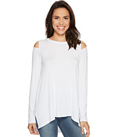 HEATHER - Long Sleeve Slit Shoulder Slouchy Top