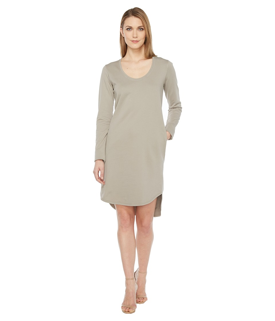 HEATHER HEATHER - Cotton French Terry Long Sleeve Scoop Dress
