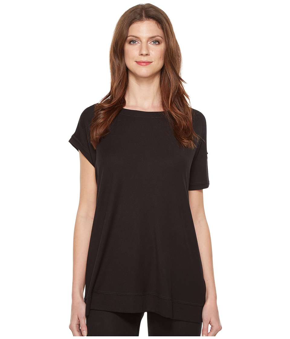 HEATHER - Asymmetrical Sleeved Rib Box Tee