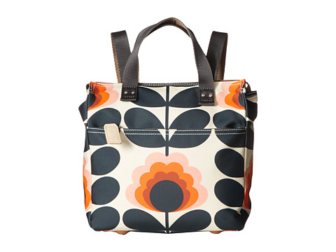 Orla Kiely Summer Flower Stem Small Backpack - Sunset