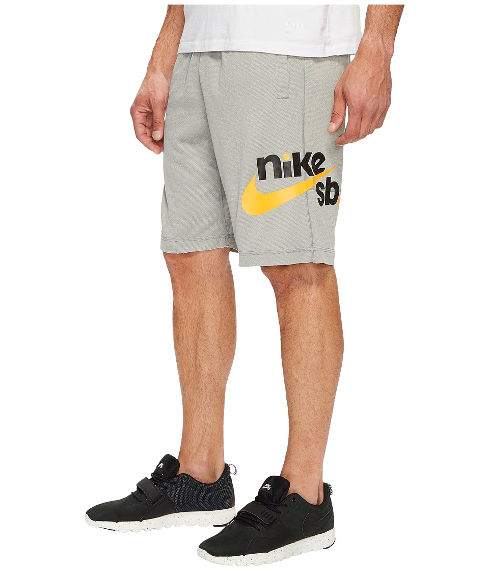 Nike SB SB Dry Graphic Short (Dark Grey Heather/Circuit Orange) Men