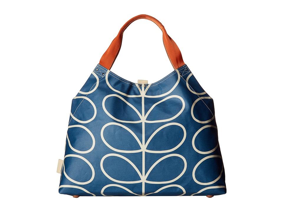Orla Kiely Giant Linear Stem Large Holdall (Marine) Handbags