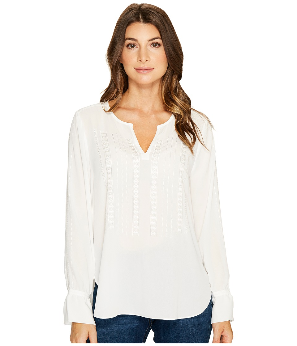 NYDJ - Embroidered Blouse (Sugar) Womens Blouse