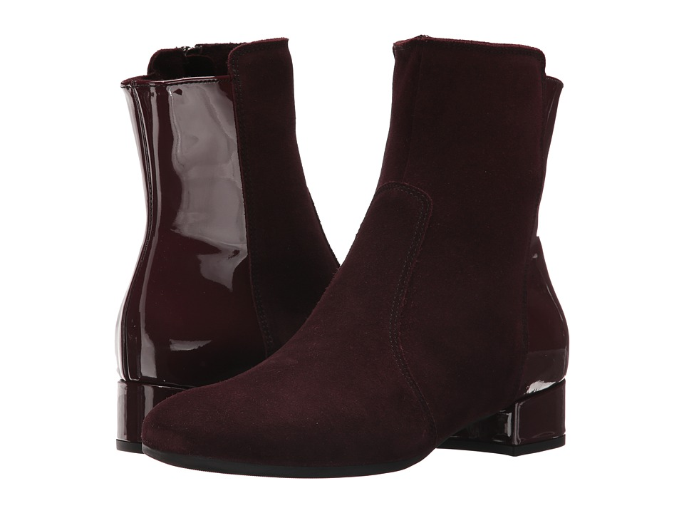 La Canadienne Jil (Bordeaux Suede/Patent) Women