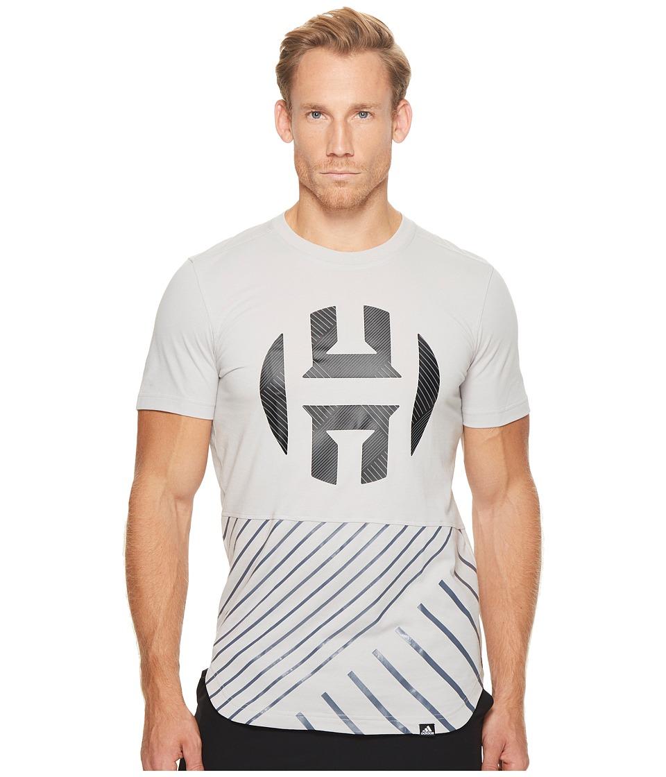adidas Harden Logo Scoop Tee (Grey 2/Black) Men