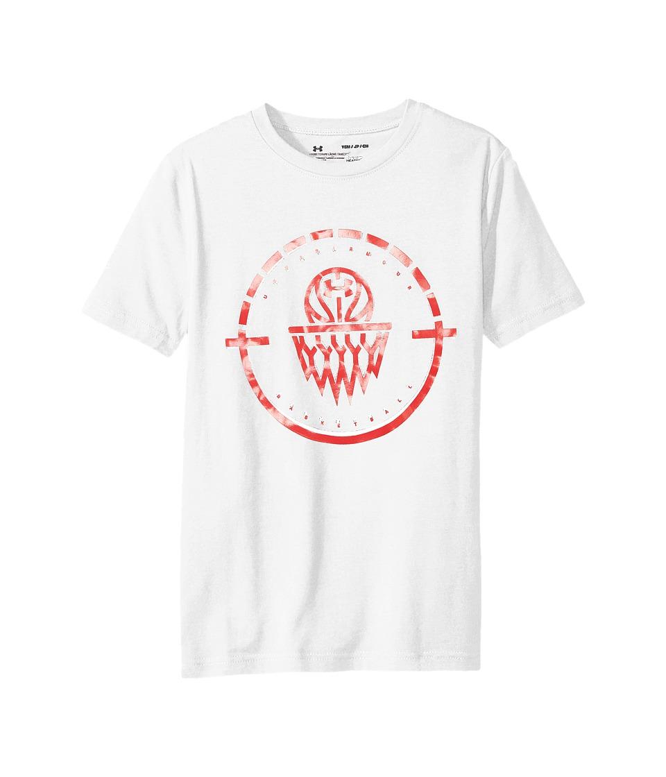Under Armour Kids - Center Court Short Sleeve Tee (Big Kids) (White/Red/Red) Boys T Shirt