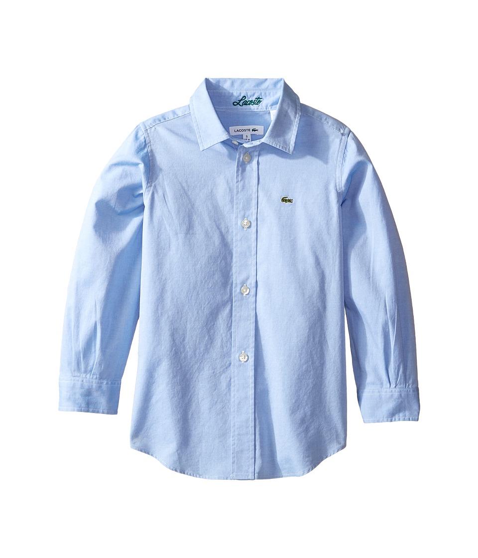 Lacoste Kids - Long Sleeve Classic Oxford Shirt (Little K...
