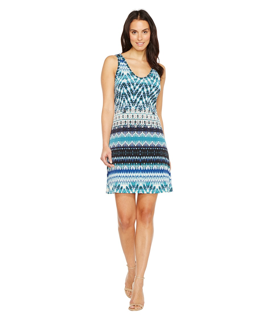 Karen Kane Batik Stripe Brigitte Dress (Print) Women