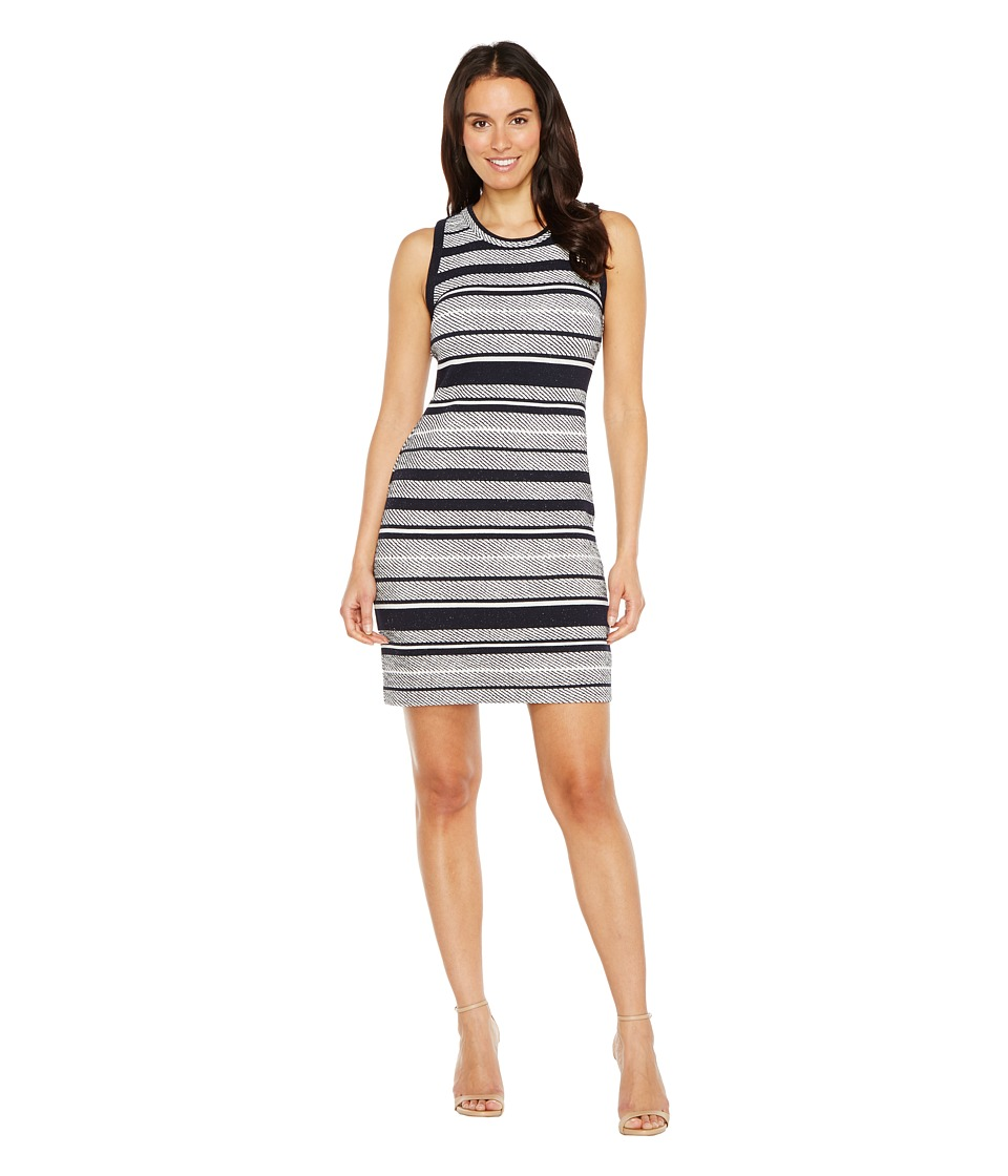 Karen Kane Indigo Stripe Jacquard Dress (Stripe) Women