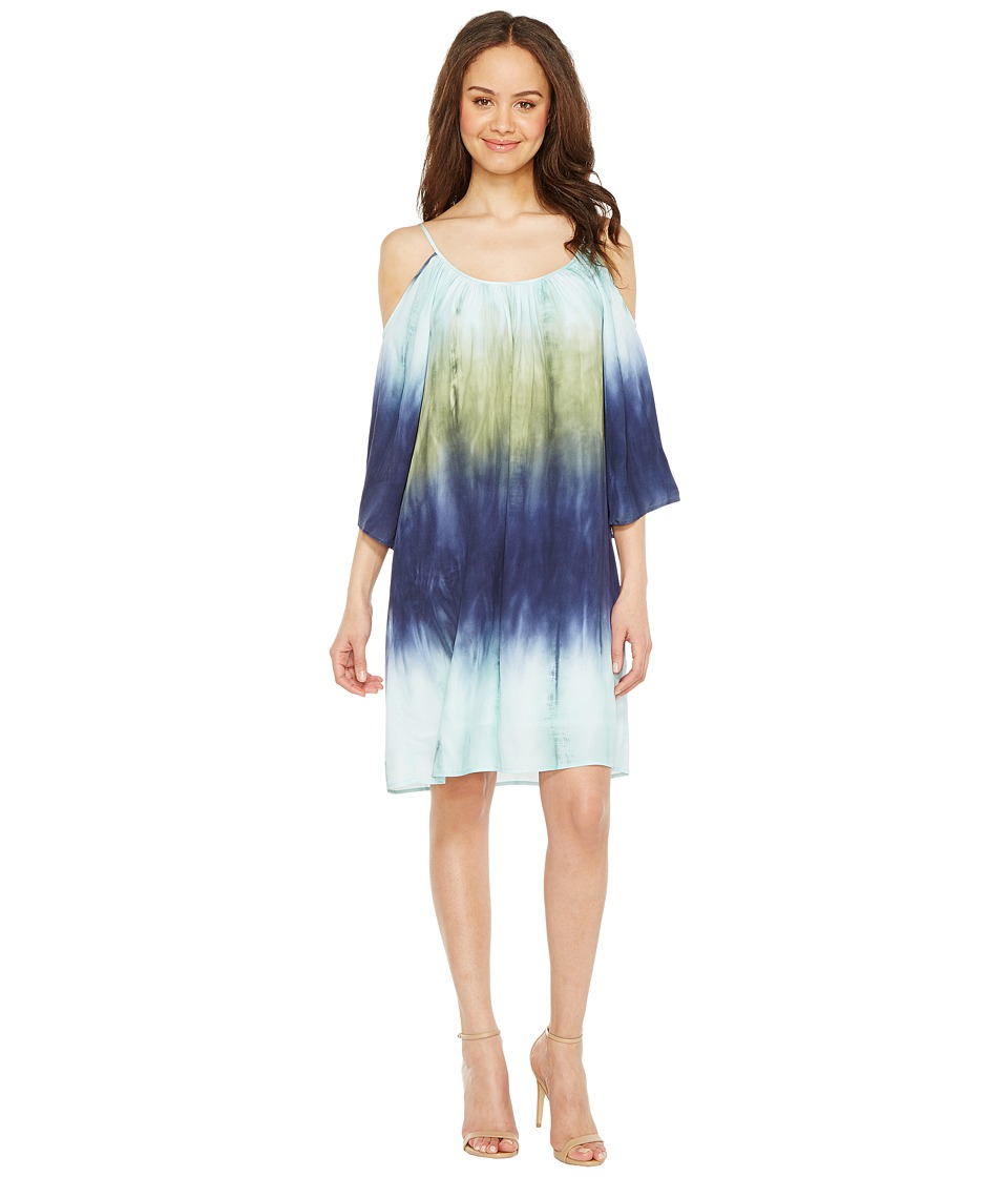 Karen Kane Cold Shoulder Ombre Dress (Print) Women