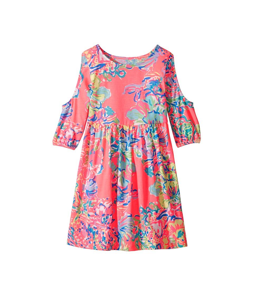 Lilly Pulitzer Kids Linn Dress (Toddler/Little Kids/Big Kids) (Coral Reef Island Seacret Reduced) Girl