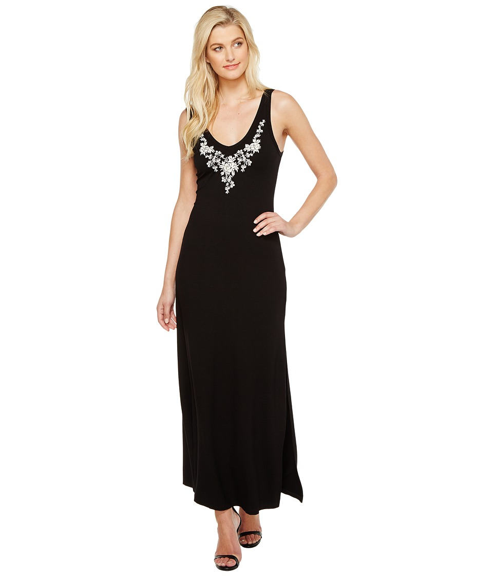 Karen Kane Embroidered Alana Maxi Dress (Black) Women