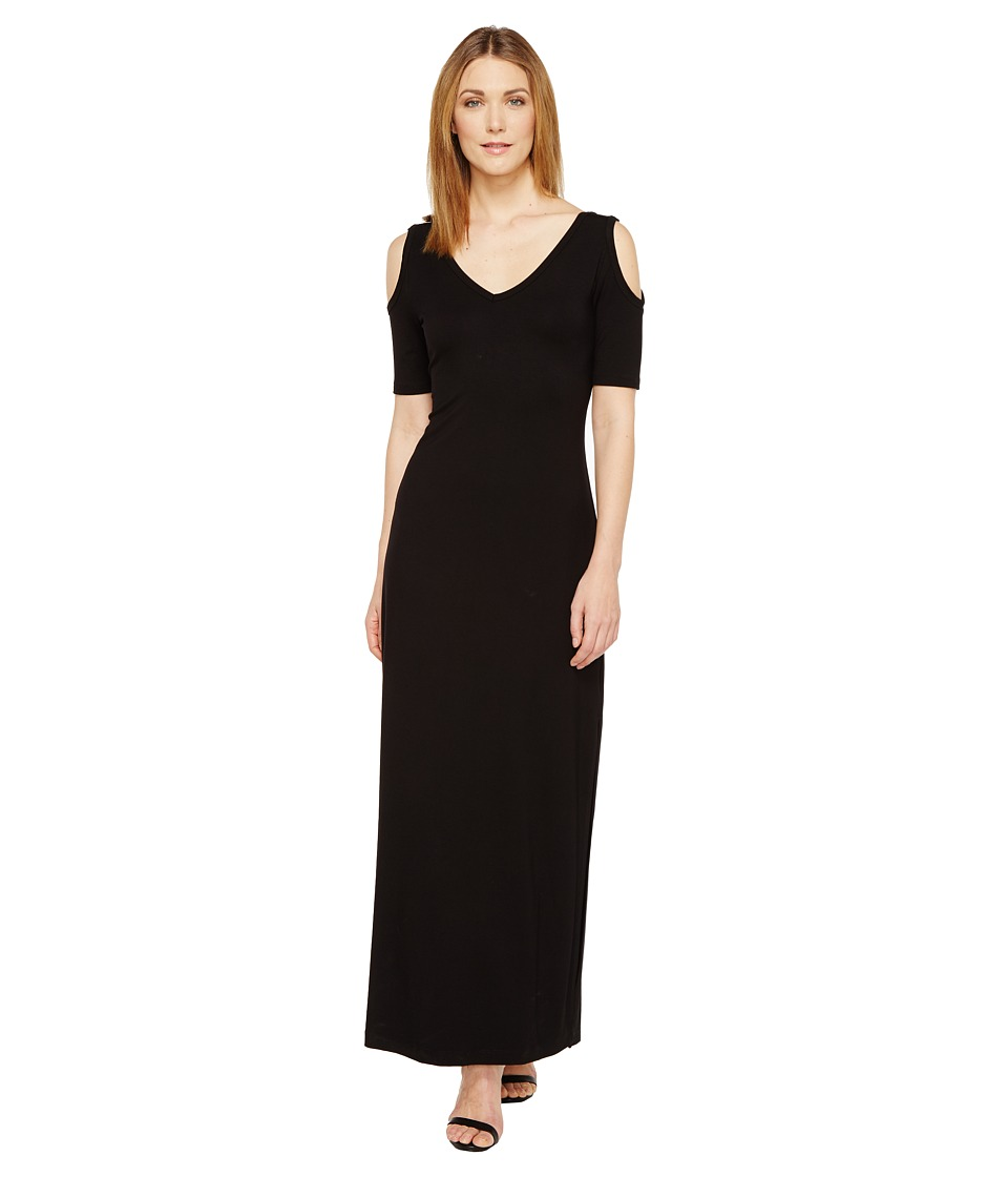 Karen Kane Cold Shoulder Maxi Dress (Black) Women