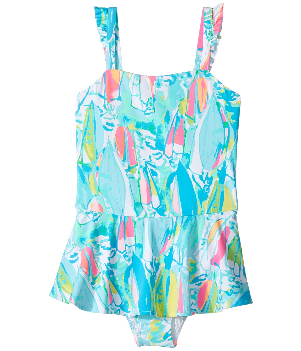 Lilly Pulitzer Kids - Mindy Swimsuit (Toddler/Little Kids/Big Kids) (Multi Beach and Bae) Girls Swimsuits One Piece
