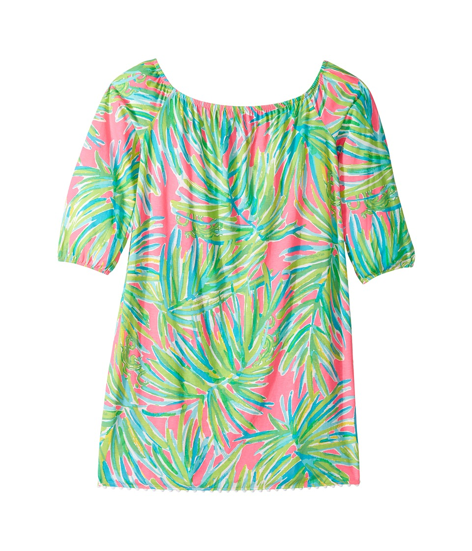 Lilly Pulitzer Kids Mini Enna Dress (Toddler/Little Kids/Big Kids) (Tiki Pink Royal Lime Reduced) Girl