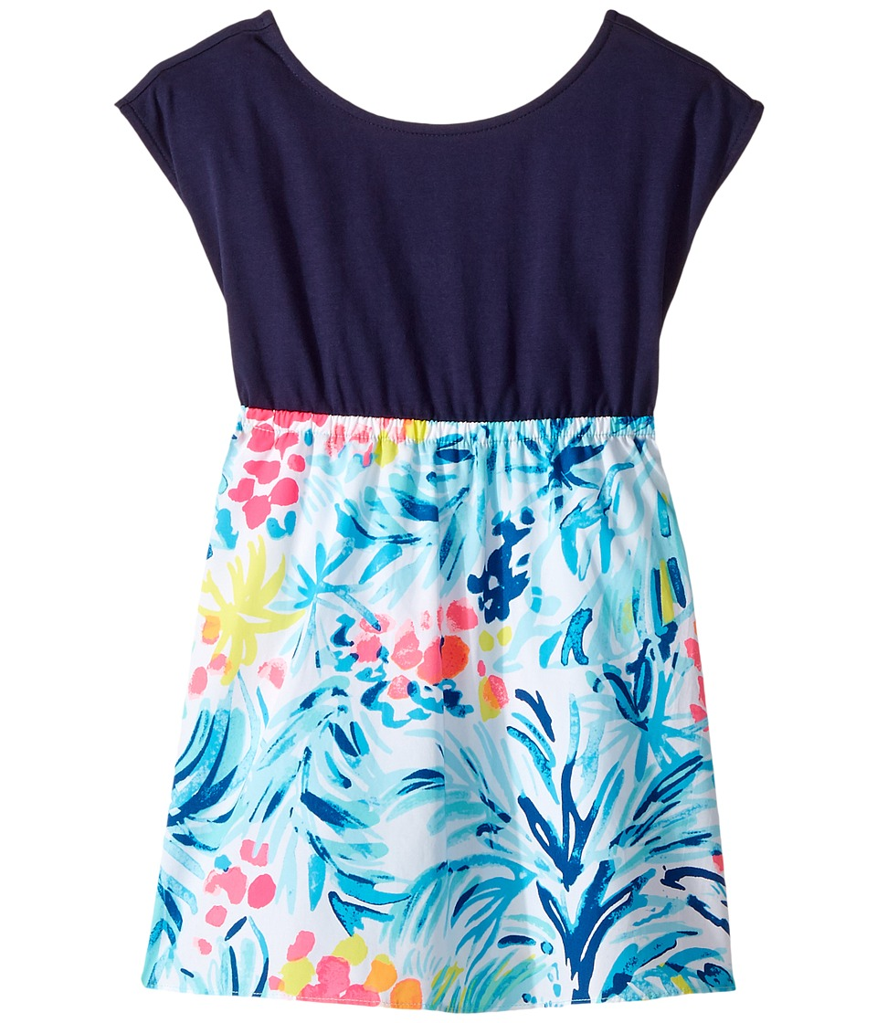 Lilly Pulitzer Kids Caila Dress (Toddler/Little Kids/Big Kids) (Serene Blue Tippy Top) Girl