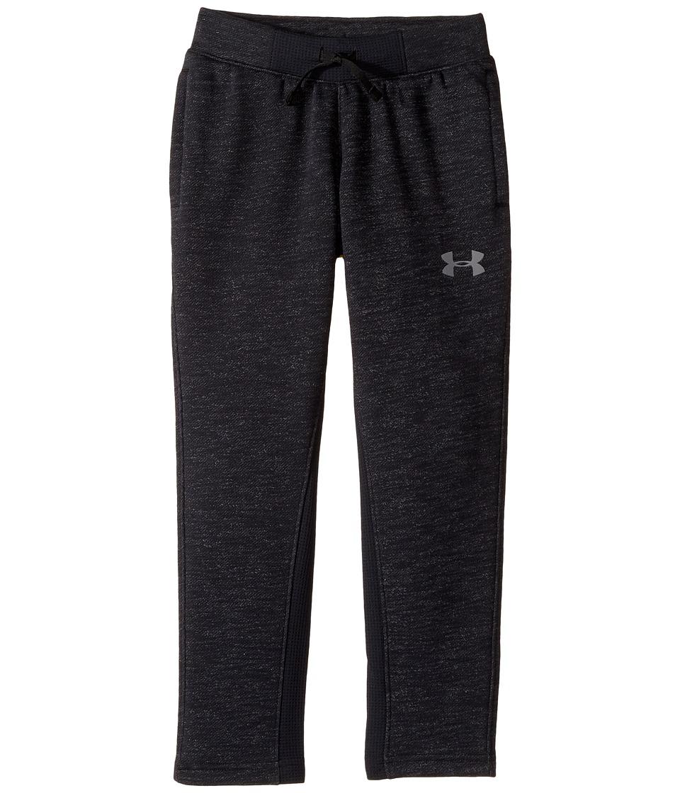 Under Armour Kids - UA Baseline Fleece Pants (Big Kids) (Black/Black/Graphite) Boys Casual Pants