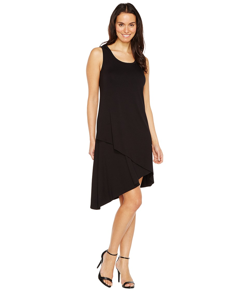 Karen Kane Asymmetric Hem Dress (Black) Women