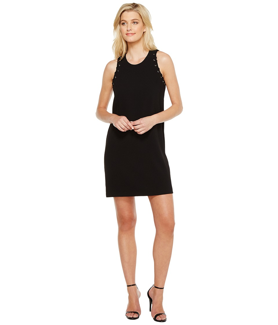 Karen Kane Eyelet Shift Dress (Black) Women