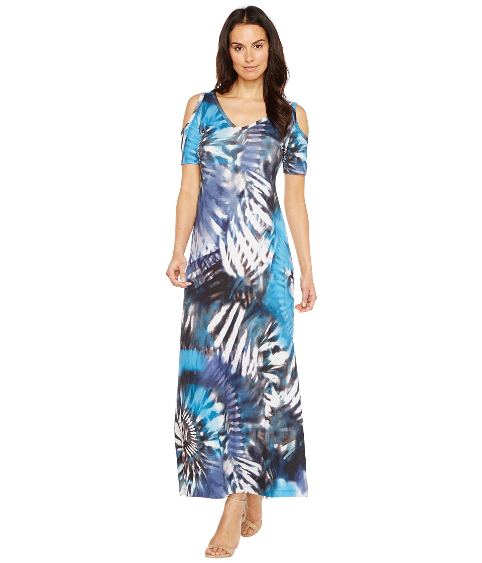 Karen Kane Cold Shoulder Maxi Dress (Print) Women