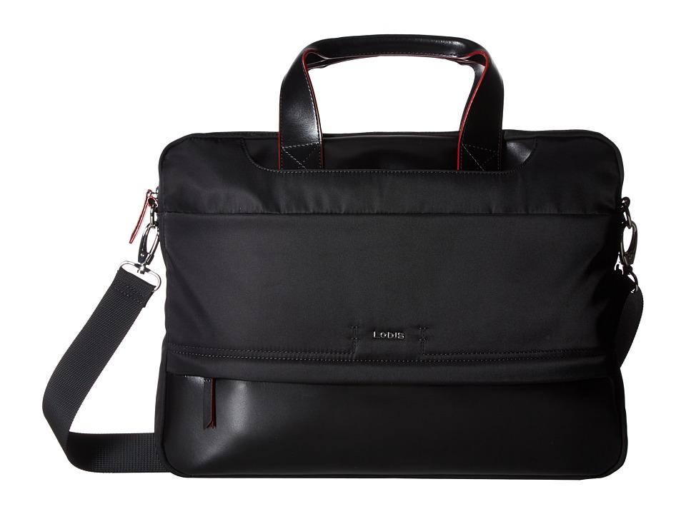 Lodis Accessories Kate Nylon Alexus Brief (Black) Briefcase Bags
