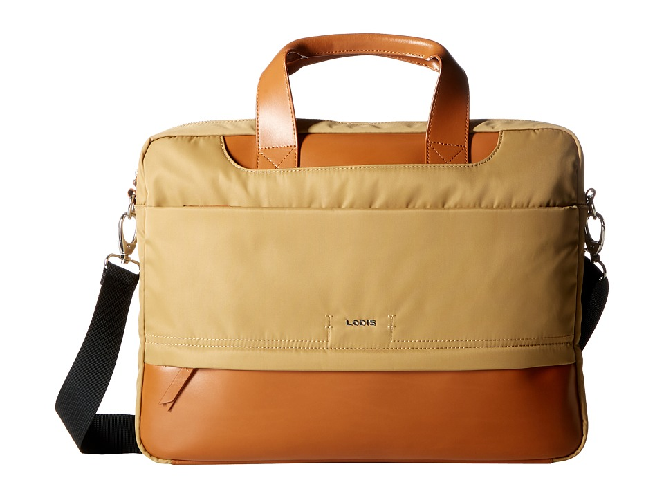 Lodis Accessories Kate Nylon Alexus Brief (Light Brown) Briefcase Bags